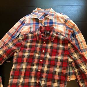 Talbots/AE Outfitters Plaid Button Down S 8/M